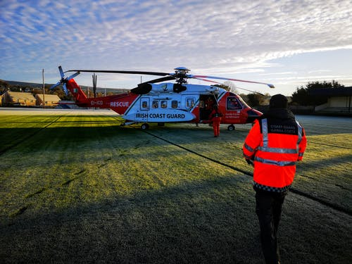 Free stock photo of Irish Coast Guard Helicopter R115