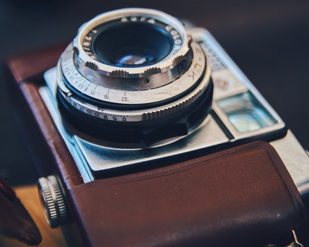Free stock photo of camera, metal, photography, vintage