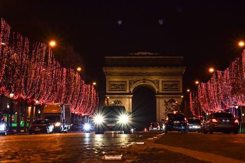 Immagine gratuita di atmosfera natalizia, champs élysées, decorazioni natalizie