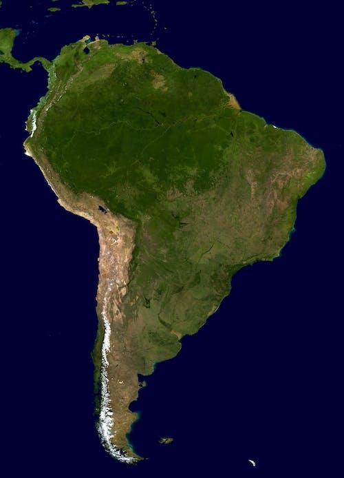 Foto d'estoc gratuïta de amèrica, Argentina, brasil, continent