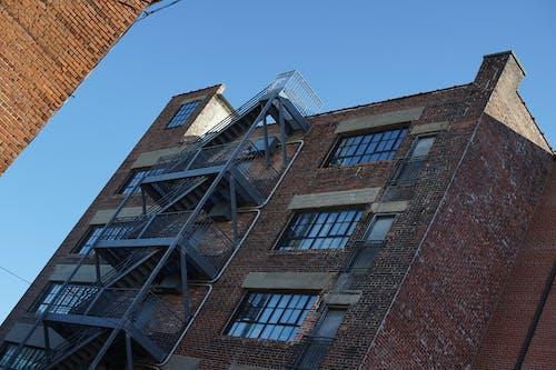 Free stock photo of angle, blue skies, brick, brick building