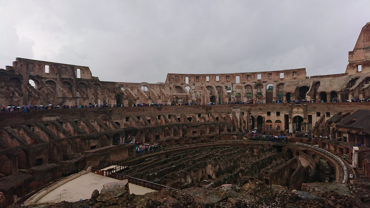 A Monumental Colosseum In Rome