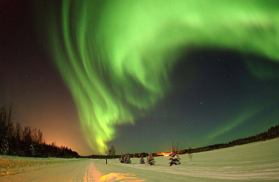 alaska, atmosphere, aurora borealis