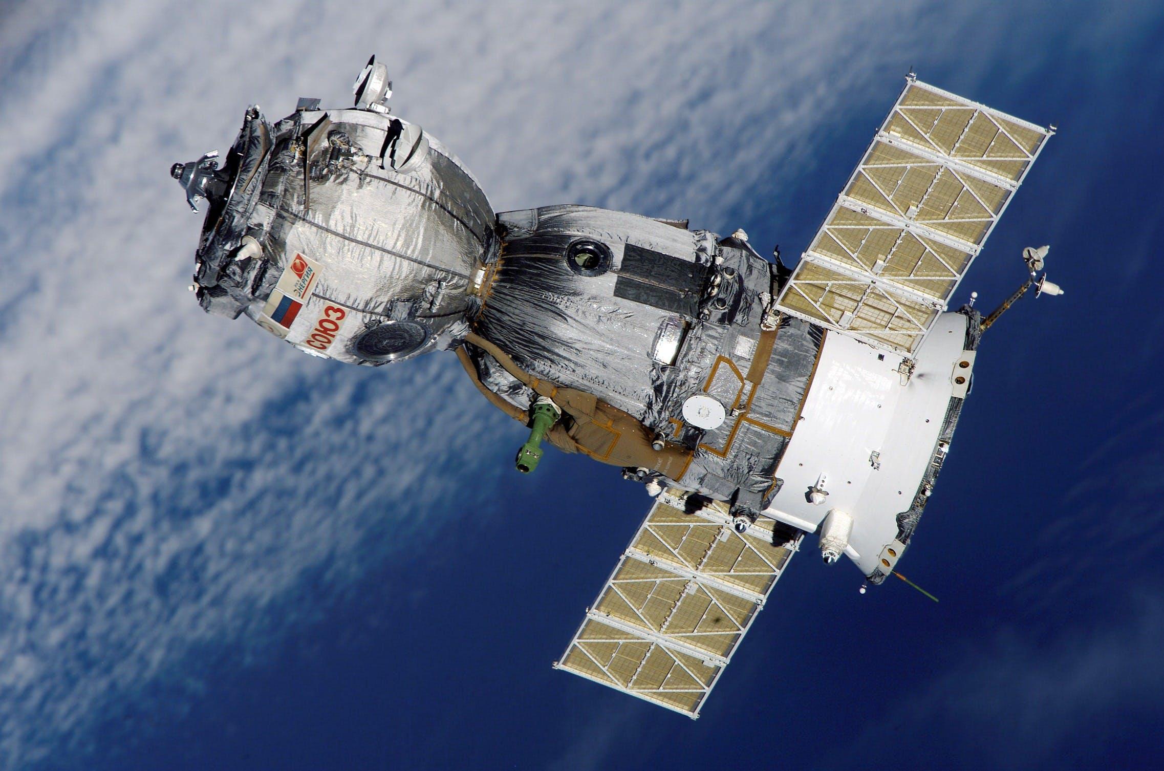 Gray and White Satellite