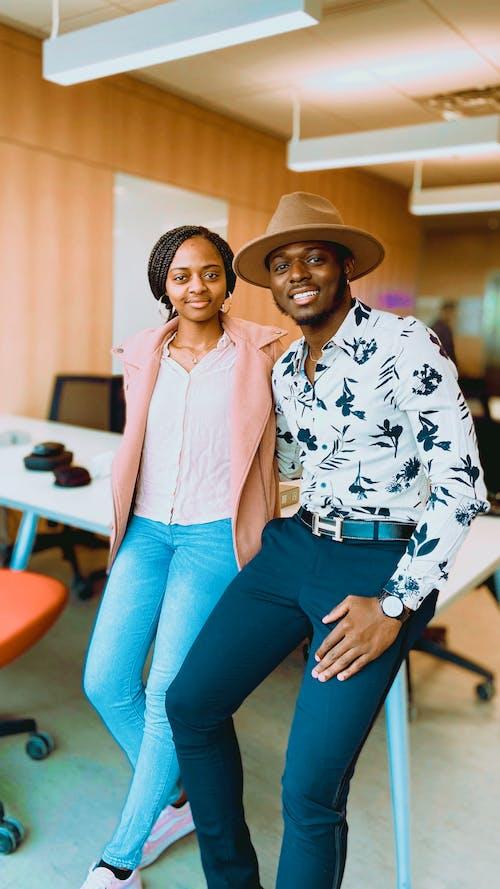 Ilmainen kuvapankkikuva tunnisteilla afrikkalainen amerikkalainen pari, ammattilainen, business