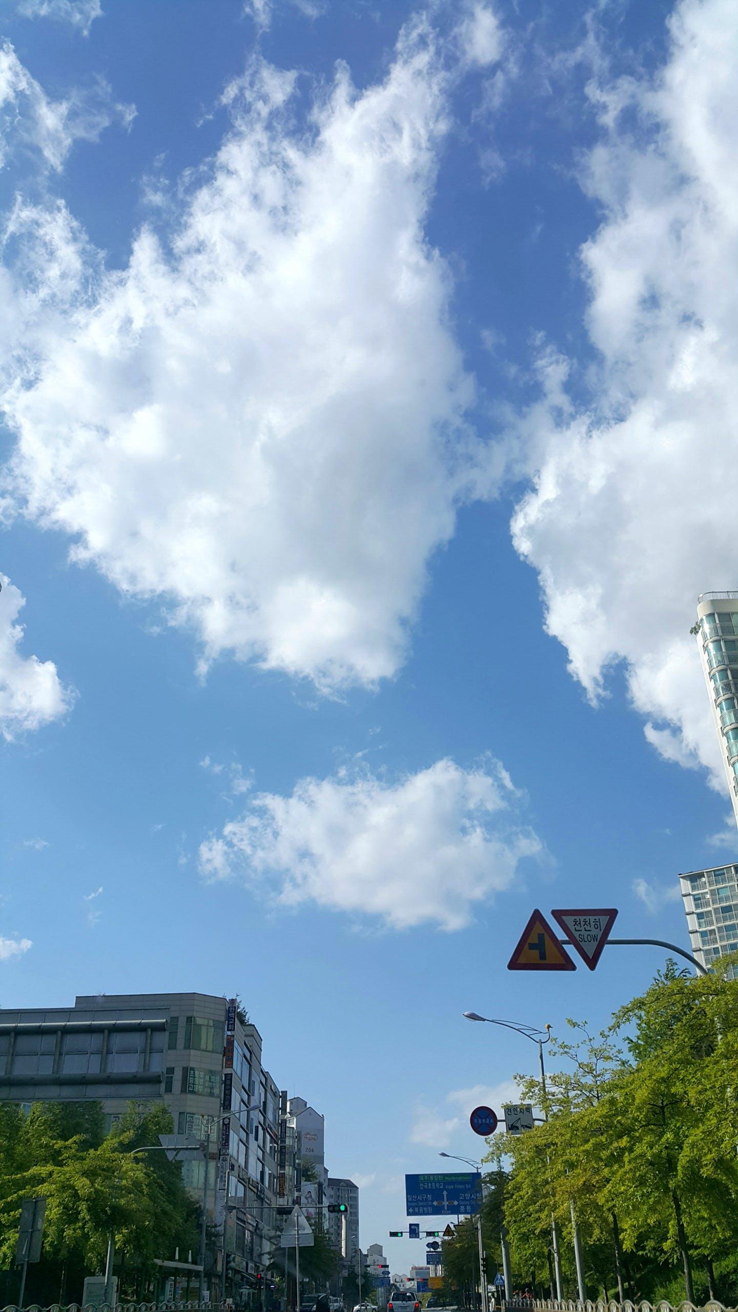 Gratis lagerfoto af blå, blå himmel, klar himmel, overskyet himmel