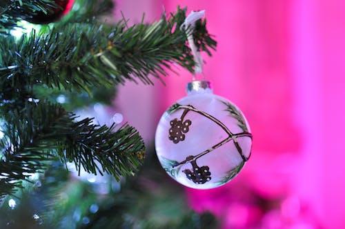 Close-Up Shot of a Christmas Ball on a Christmas Tree
