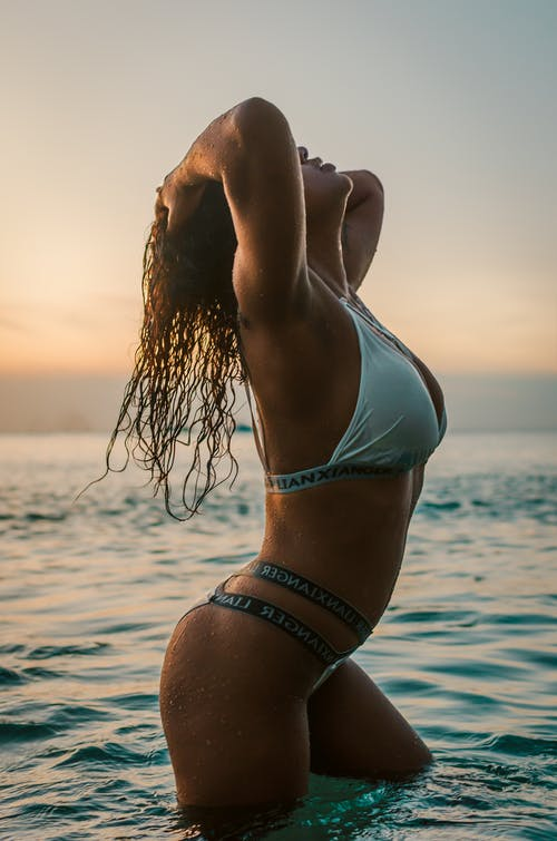 A Sexy Woman Posing on the Beach