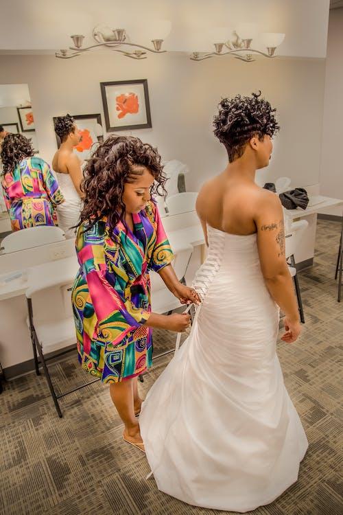 Free stock photo of bride, wedding, wedding gown