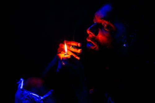 Základová fotografie zdarma na téma černoch, kloub, kouř