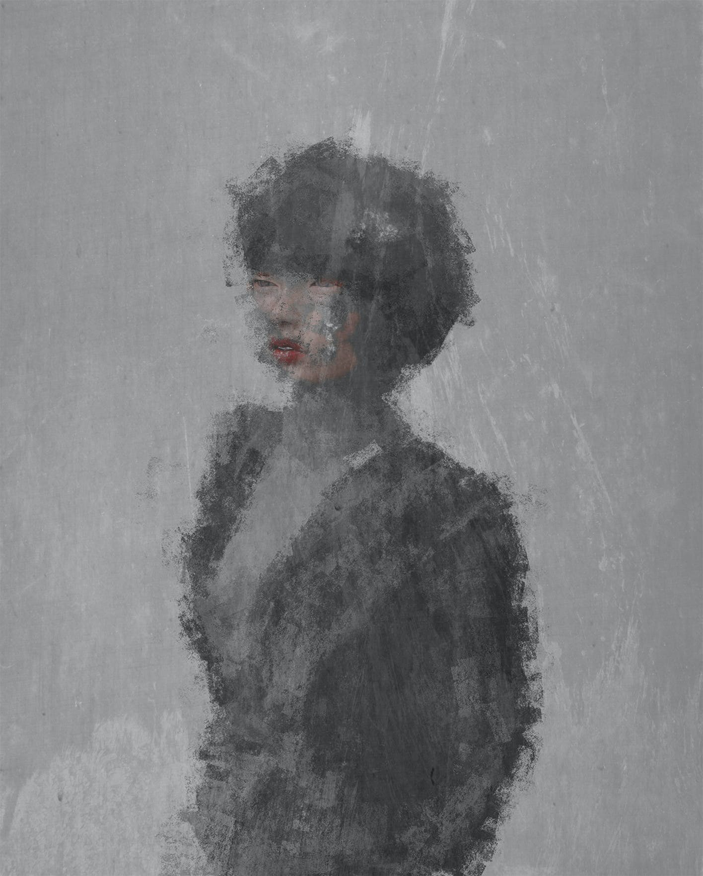 Free stock photo of woman, blurred, drawing