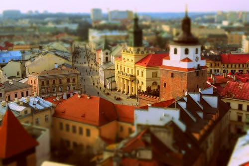 A View Of The Old Town in Lublin, Poland