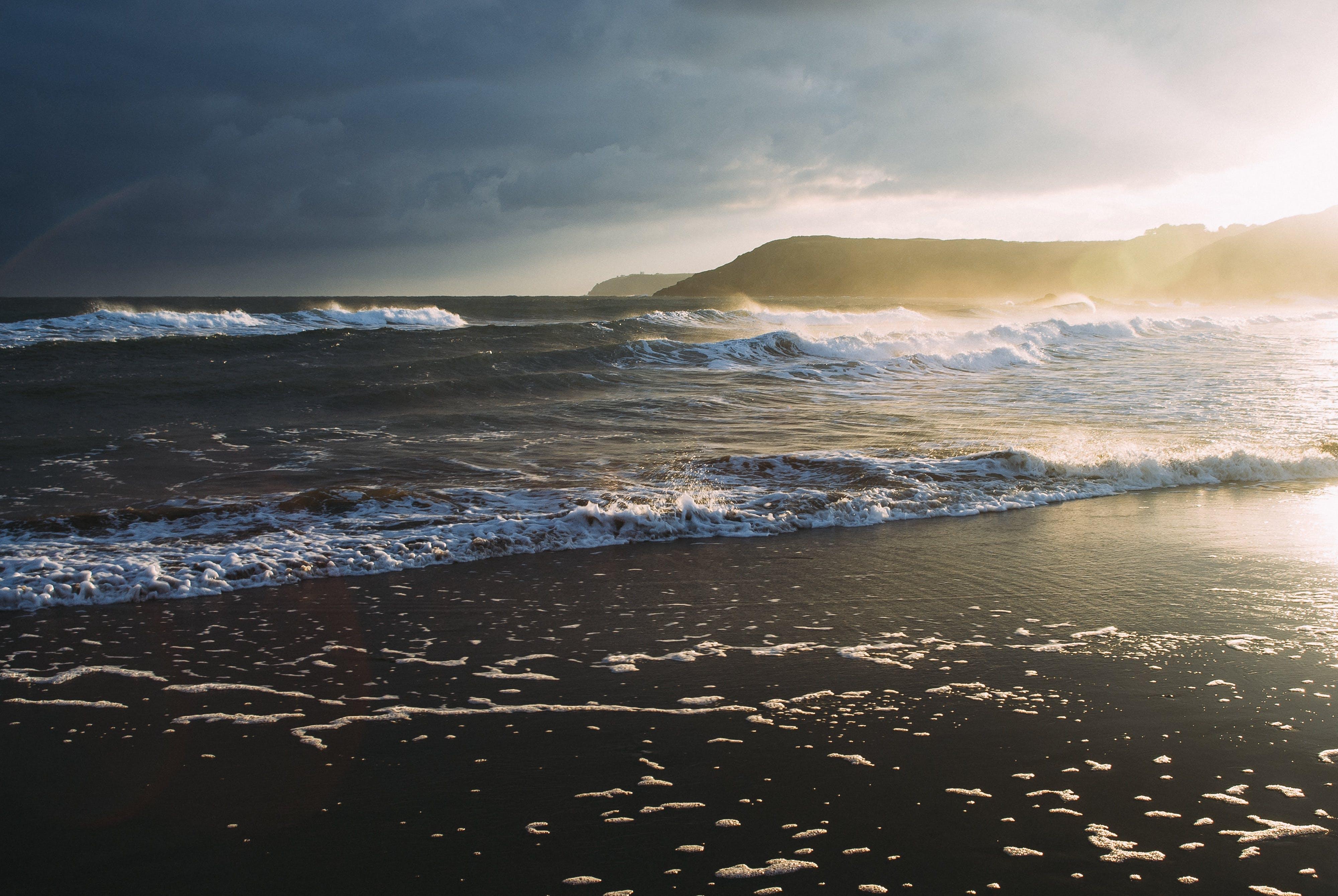 Free stock photo of sea, nature, beach, waves