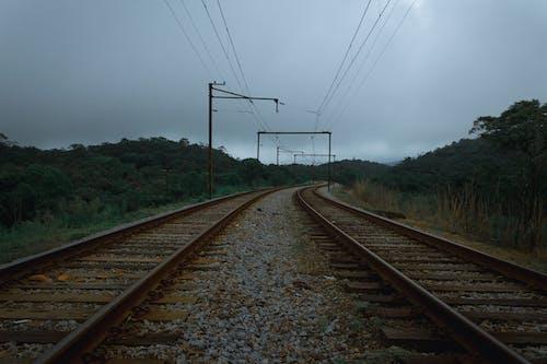 Gray Metal Train Rail