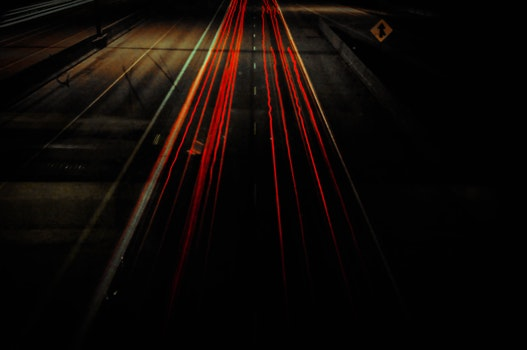 Night Photography of Car Traffic