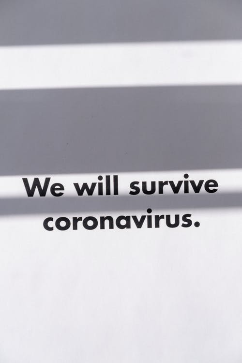 Slogan On Coronavirus With Positive Outlook