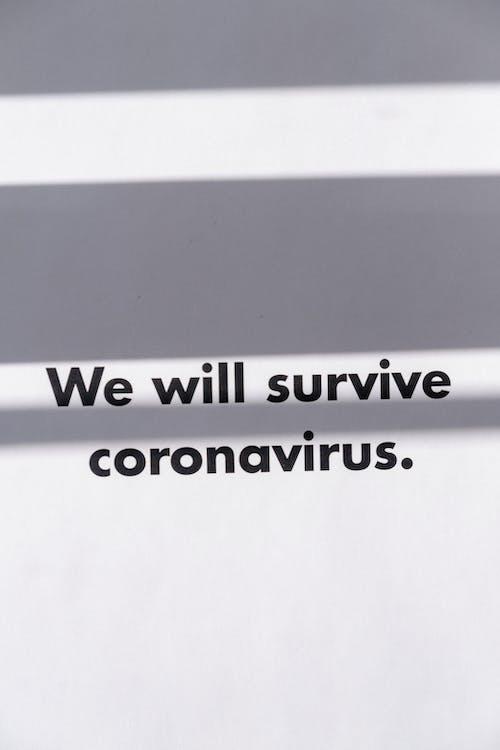 Slogan On Coronavirus With Positive Outlook