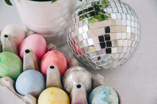 Easter Eggs and Disco Ball