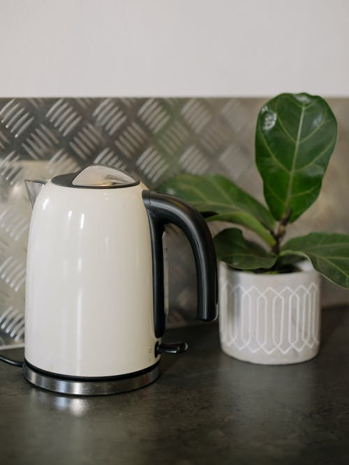 White and Black Electric Kettle