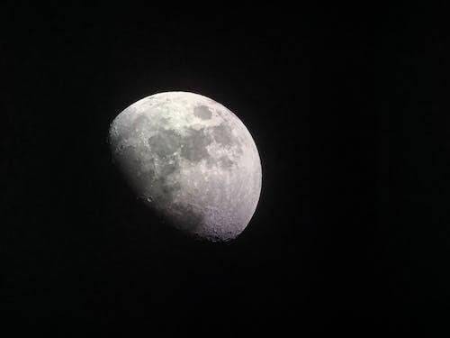 Kostenloses Stock Foto zu dunkel, krater, mond, mondlicht