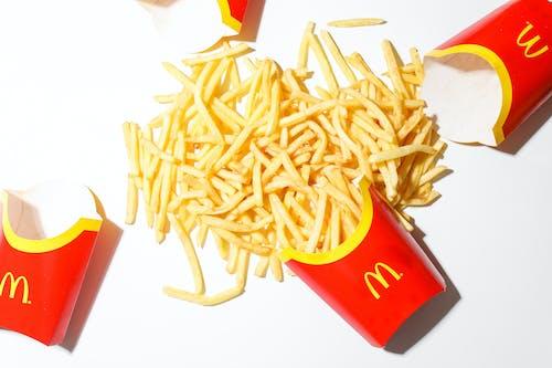 Mcdonalds Fries on White Table