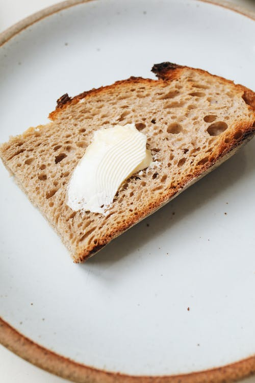 Close Up Shot of a Bread with Butter