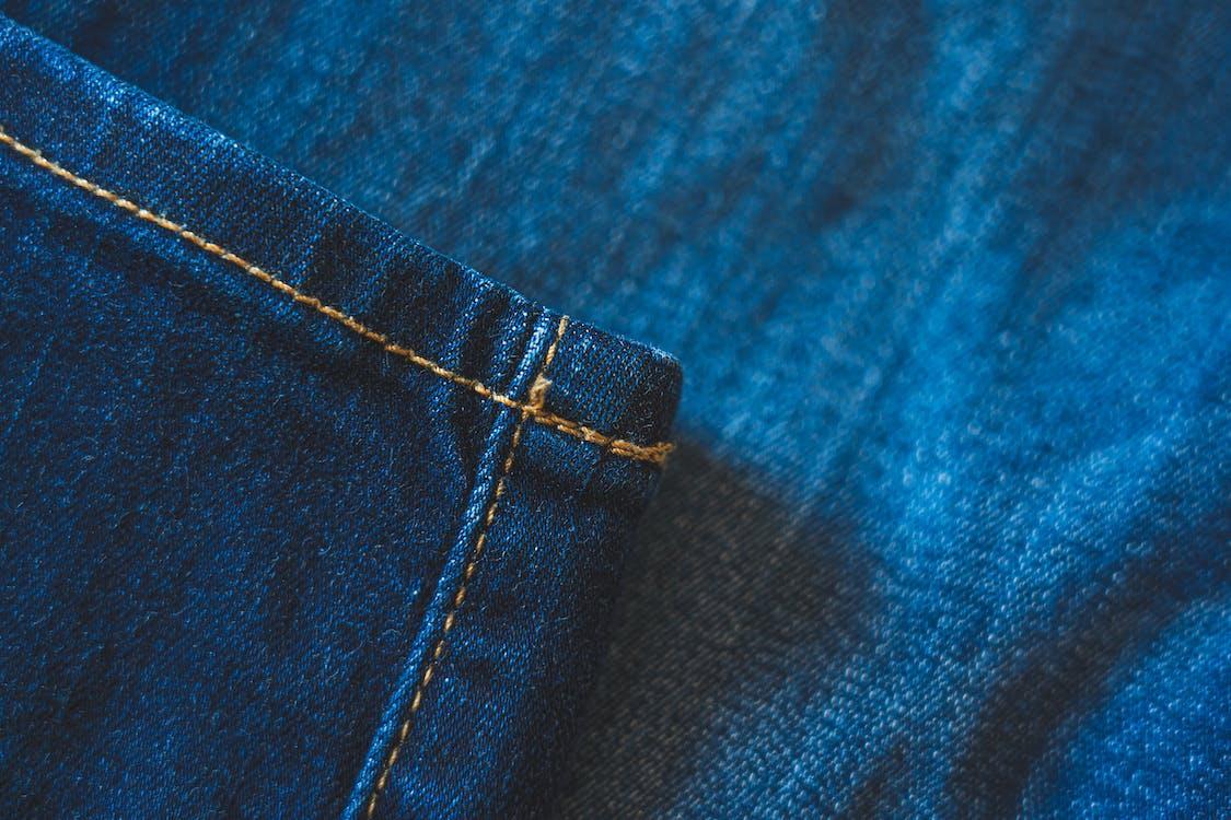 Blue Denim Jeans Texture With Seams