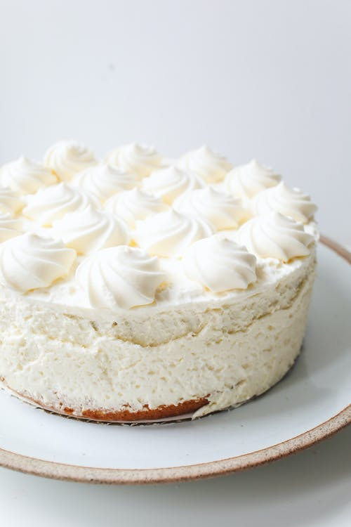 Close-Up Photo Of White Cake