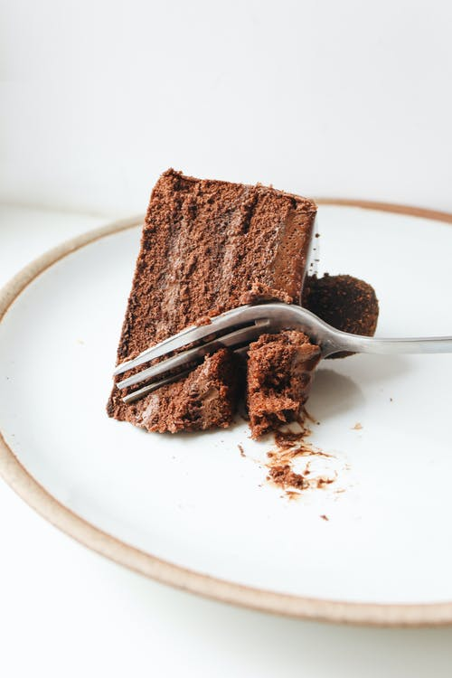 Close-Up Photo Of Sliced Chocolate Cake