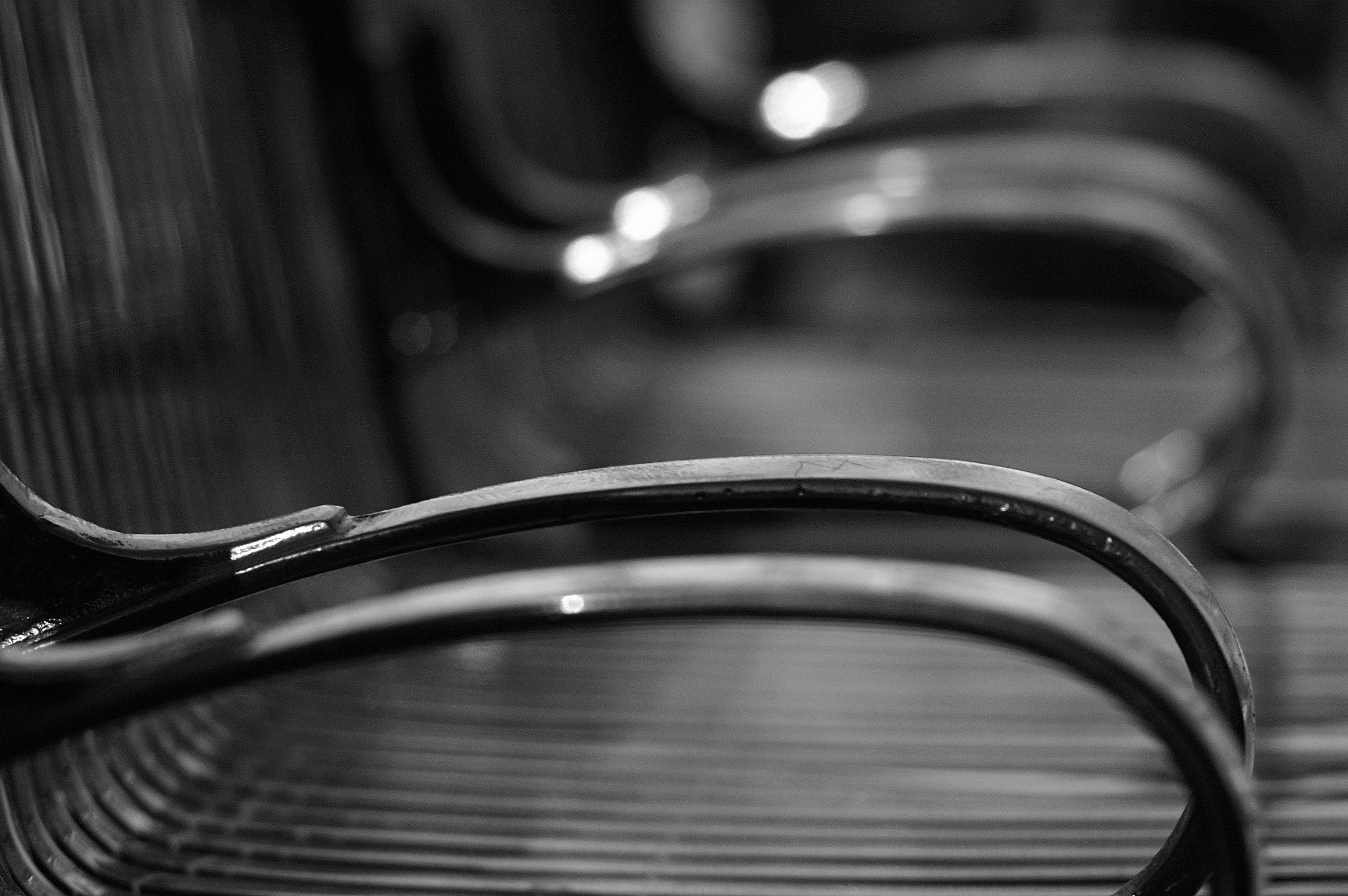 Free stock photo of bench, metal, park, seat