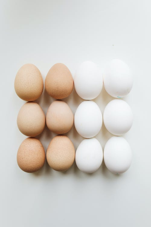Photo Of Brown And White Eggs