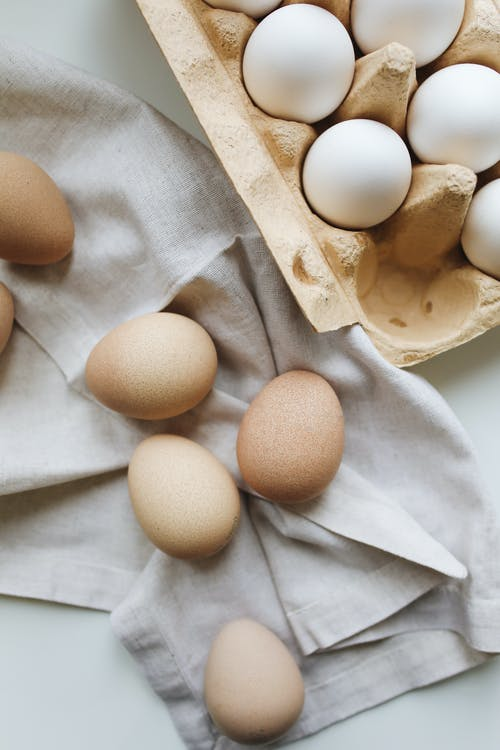 Photo Of Eggs On Top Of Fabric