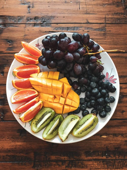 Photo Of Assorted Fruits On Ceramic Plate