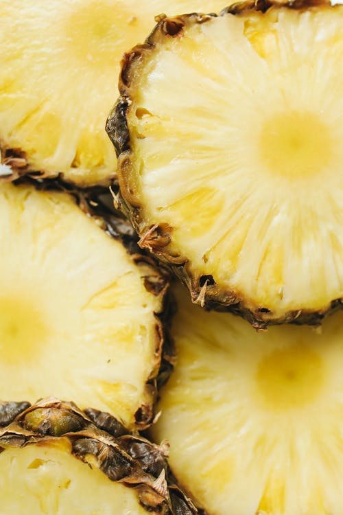 Close-Up Photo Of Sliced Pineapple