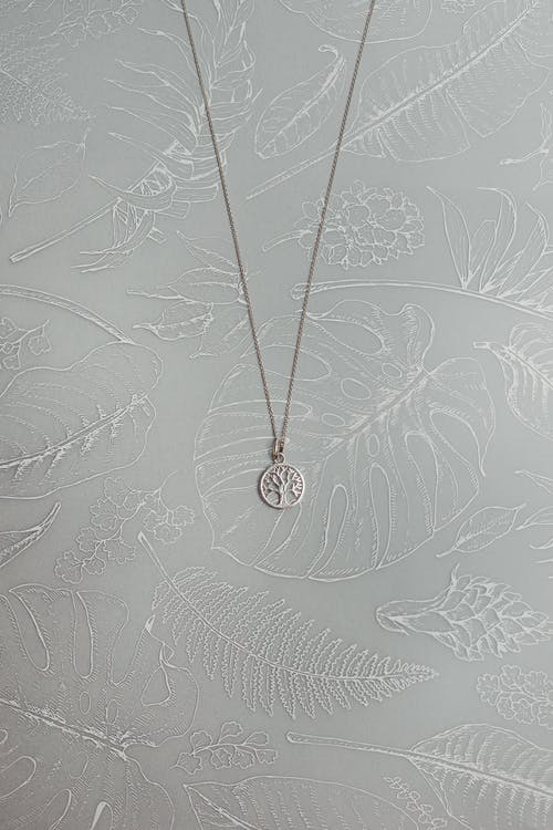 Photo Of Silver Pendant Necklace