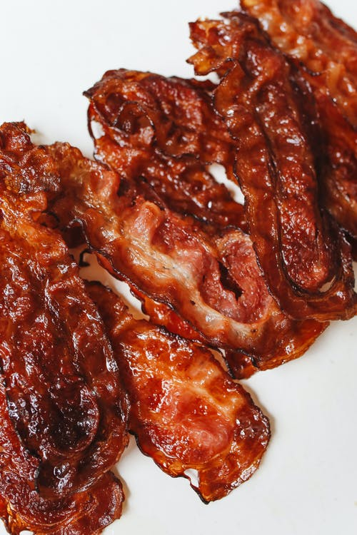 Close-Up Photo Of Cooked Bacon