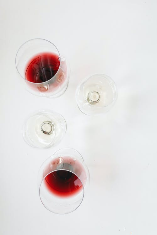 Photo Of  Wine Glasses With Red Wine