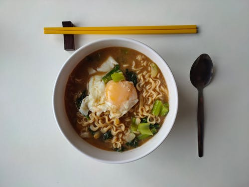 Photo Of Noodles On A Bowl