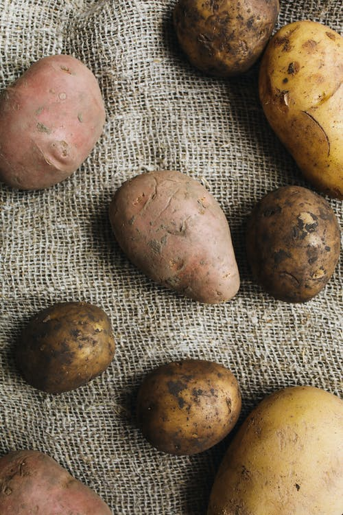 Photo Of Potatoes On A Fabric