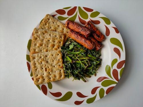 Foto d'estoc gratuïta de botifarres, deliciós, espinacs