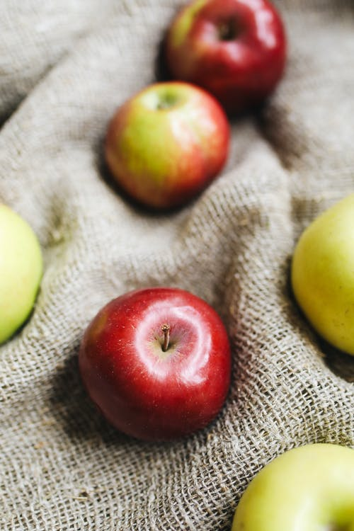 Photo Of Apple On Top Of Fabric