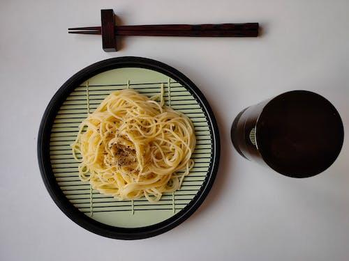 Pasta on Ceramic Plate