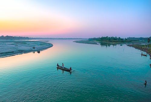 Immagine gratuita di alba, ambiente, canoa