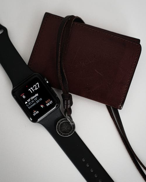 Free stock photo of apple, apple watch, leather, modern technology