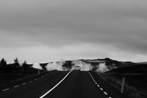 Monochrome Photo Of Road