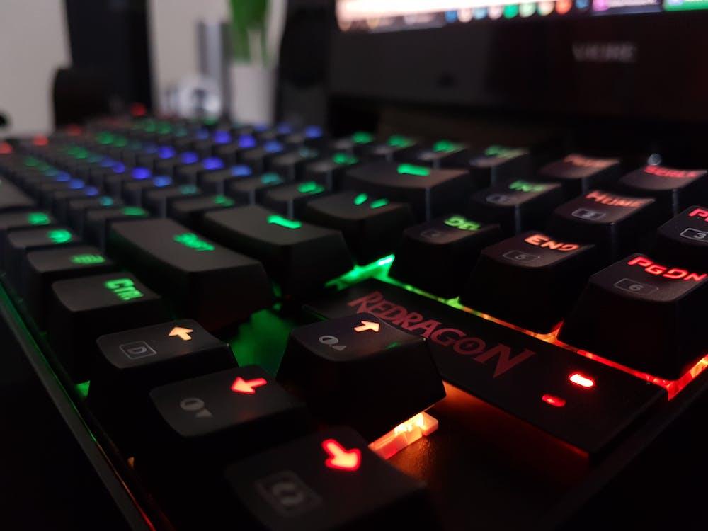 Free stock photo of backlight, computer keyboard, gamer