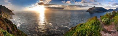 Darmowe zdjęcie z galerii z afryka południowa, formacja skalna, niebieska woda, wieczorne słońce