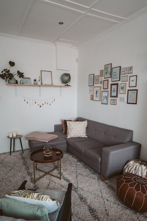 Foto d'estoc gratuïta de apartament, cadira fàcil, casa, coixins