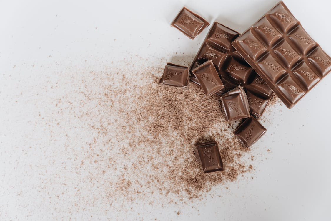 Brown Chocolate Bar on White Surface