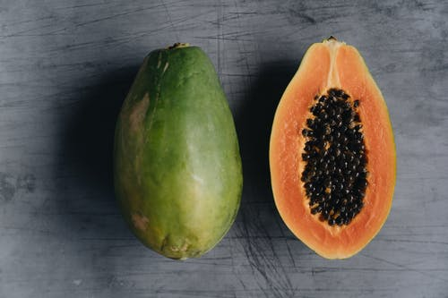 Close-Up Photo Of Ripe Papaya